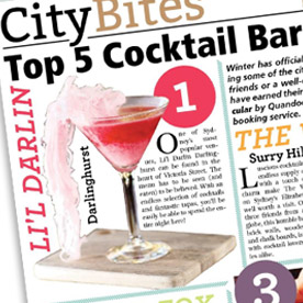 Top 5 Cocktail Bars Sydney